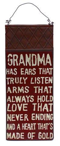 Earth de Fleur Homewares - Grandma's Love Tin Quote Wall Sign
