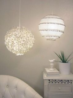 Chandelier Made Out of Paper