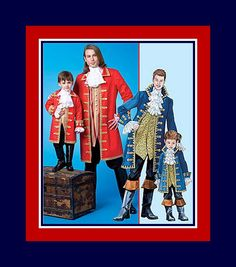 DASHING SWASHBUCKLER PIRATE-Costume Sewing Pattern-18th Century-Long Lined Coat-Stand-Up Collar-Vest-Lace Jabot-Cuffs-Uncut-Adult Sizes-Rare by FarfallaDesignStudio on Etsy