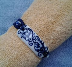 Blue and white porcelain braceletKing kong knot by AmandaGifts, $4.99
