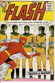 "The Flash #105  ""Conqueror from 8 Million BC! / The Master of Mirrors!""  March 1, 1959."