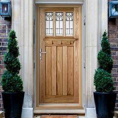 Tuscany External Oak Door with Tulip style Tri-Glazing & Goodwood External Oak Door with Frosted Double Glazing | External ...