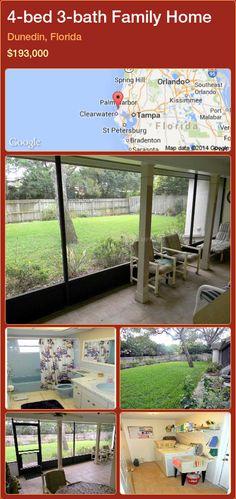 4-bed 3-bath Family Home in Dunedin, Florida ►$193,000 #PropertyForSaleFlorida http://florida-magic.com/properties/56584-family-home-for-sale-in-dunedin-florida-with-4-bedroom-3-bathroom