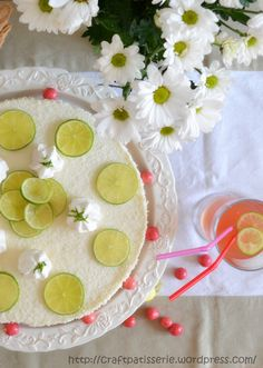 Cheesecake lime e cocco/ Lime and coconut no bake cheesecake | Craft Patisserie