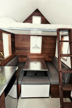 the miterbox tiny house on wheels 019 The Miter Box: Modern Tiny House on Wheels by Shelter Wise LLC