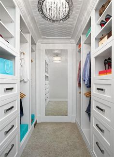 Walk In Closet Ideas - Seeking some fresh ideas to remodel your closet? See our gallery of leading deluxe walk in closet design ideas and also images. Small Closet Design, Small Closet Space, Bedroom Closet Design, Master Bedroom Closet, Small Closets, Closet Designs, Small Space, Open Closets, Dream Closets