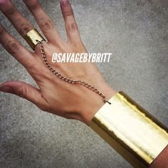 Hammered Gladiator Cuff and Ring by SavageByBritt