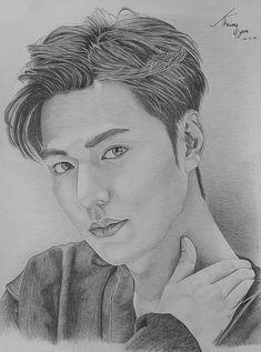 Kpop Drawings, Art Drawings Sketches Simple, Pencil Art Drawings, Lee Min Ho Boys Over Flowers, Lee Min Ho Dramas, Pencil Sketch Portrait, Lee Min Ho Photos, Korean Drama Quotes, Kim Yoo Jung