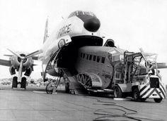 A Douglas C-124 Globemaster II eats a Junker JU-52