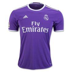 adidas Kids Real Madrid 16/17 Away Jersey Ray Purple/Crystal White - XL