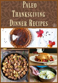Here are a ton of Paleo Thanksgiving Recipes that won't leave you with a tummy ache after dinner!