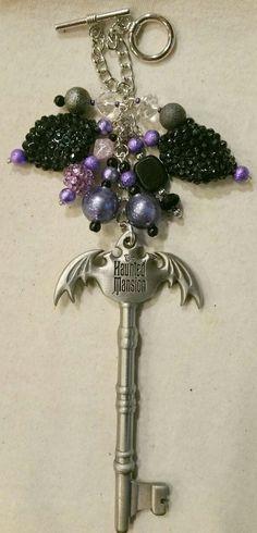 Haunted Mansion Bat Key Purse Charm  ~ available at https://www.etsy.com/shop/magic365