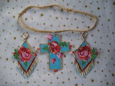 Beaded Earrings Patterns, Bead Loom Patterns, Seed Bead Earrings, Beading Patterns, Beaded Jewelry, Beaded Necklace, Beaded Angels, Schmuck Design, Loom Beading