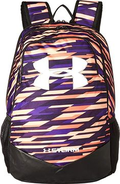 e68f20f98d Under Armour Men s UA Scrimmage Backpack (Youth) Peach Horizon Purple  Switch White