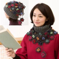 knit crochet neck warmer hat
