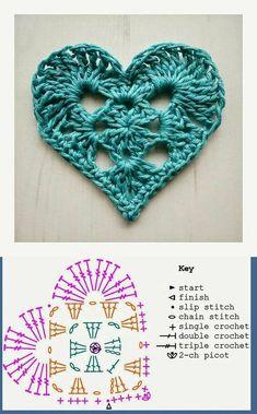 New crochet granny square ideas ganchillo Ideas Crochet Doily Diagram, Crochet Flower Tutorial, Crochet Flower Patterns, Crochet Chart, Crochet Motif, Diy Crochet, Crochet Doilies, Crochet Flowers, Crochet Double
