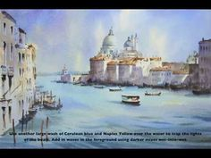 How to Paint Venice Grand Canal in Watercolours