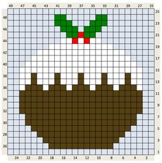 Crochet Christmas Charts and written colour changes Cross Stitch Christmas Cards, Christmas Charts, Xmas Cross Stitch, Cross Stitch Cards, Cross Stitching, Cross Stitch Embroidery, Embroidery Patterns, Christmas Cross Stitch Patterns, Learn Embroidery