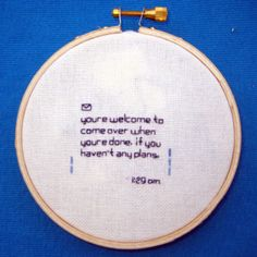 Text message embroidery is too funny