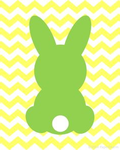 Free Bunny Silhouette Easter Printable Art