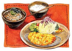 Chanmi La | Japanese food illustration on Behance