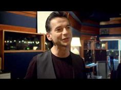 Depeche Mode in the studio and...talking about what they like to drink.