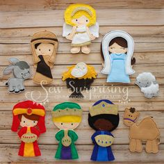 Felt Non Paper Dress Up Dolls Nativity Christmas Set--ANGEL NOW ADDED--Great for Church, Cars, or Quiet Play