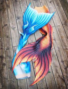 Finfolk Productions: #finfolk #finfolkproductions #fireandice #blue #red #fire #ice #original #mermaid #merman #mermaidtail