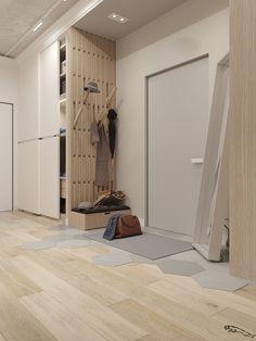 A superb one-bedroom apartment in Samara Bedroom Closet Design, Home Room Design, Home Interior Design, Living Room Designs, House Design, Home Entrance Decor, House Entrance, Home Decor, Flur Design