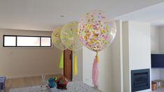 "Confetti 17"" Balloons  www.balloons.com.au Clear Balloons, Confetti Balloons, Glitz And Glam, Chai, Colours, Traditional, Home Decor, Homemade Home Decor, Masala Chai"