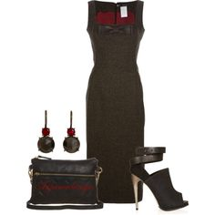 Dsquared2 Tweed Dress, created by arjanadesign on Polyvore