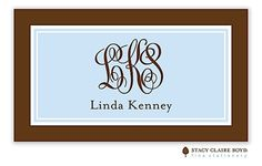 Stacy Claire Boyd | Classic Statement-Blue Calling Card