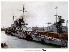 German battlecruiser SMS Seydlitz, the ship that refused to sink, taking 21 large caliber hits and a torpedo at Jutland/Skagerrak, and still managing to limp back home by her own power.