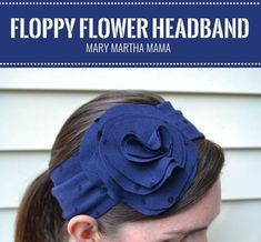 Floppy Flower Headband- a quick and easy sewing tutorial using knit fabric