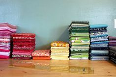 """How to """"Ruler Fold"""" fabric and save tons of space :)"""