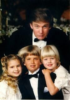 Throwback photo of DonaldTrump with his children