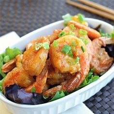 Healthy version of Bonefish Grill's Bang Bang Shrimp - just happens to work perfectly for the FMD! Serve this as an appetizer or main dish.