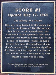 First Tim Hortons - Opened May 1964 at 65 Ottawa Street North Canadian Hockey Players, Hamilton Ontario Canada, All About Canada, Fast Casual Restaurant, I Am Canadian, Canada Eh, Tim Hortons, Quebec City, The Province
