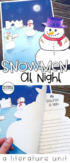 I love using a favorite winter picture book like Snowmen At Night to combine a fun writing activity with some clever craftiness. This literature unit for Snowmen At Night is filled with seven meaningful activities to go along with book. Grades 1-3 ($)