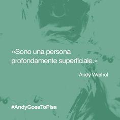 Quali immagini o parole vi suggerisce questa celebre frase di #Warhol? Condividetele con #AndyGoesToPisa! #AndyWarhol #popart #Pisa