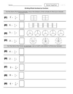 Printables Whole Numbers And Fractions Worksheets dividing unit fractions by whole numbers with visual models nf 7b divided fractions