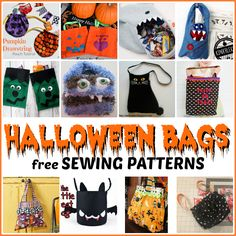 Halloween Bags  free sewing patterns