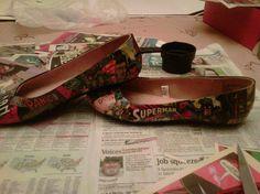 modge podge + shoes!  wow, fun!