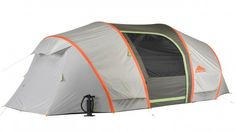 Its back~Kelty's new AirPitch Mach 4 and Mach 6 tents use inflatable poles for fast, easy set-up and breakdown.
