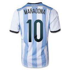14-15 Argentina World Cup Home Shirt (Maradona 10)  $108.90