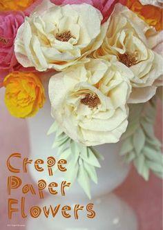 DIY crepe paper flower tutorial