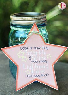 Lightning Bug Catcher Idea with Free Printables @Amy Lyons Bell {Positively Splendid}