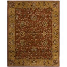 @Overstock - An intricate Oriental design and dense, thick wool pile highlight this handmade rug. This hand crafted rug uses some of the softest wool available that is not only pleasing to the eye but just as desirable to the touch.http://www.overstock.com/Home-Garden/Handmade-Heritage-Rust-Beige-Wool-Rug/7502374/product.html?CID=214117 $91.99
