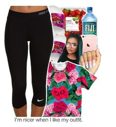 """""""floral"""" by geazybxtch24 ❤ liked on Polyvore featuring Topshop and NIKE"""