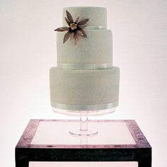 Wedding cake with Edelweiss Catherine and Tim in Manhattan, NY